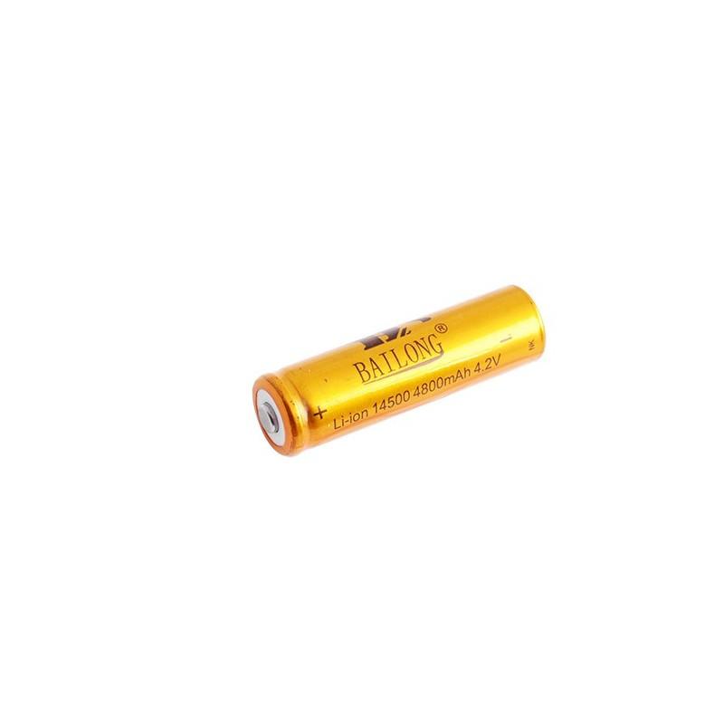 Аккумулятор Bailong 14500, 4.2V 4800mAh, золотой