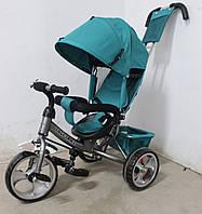 Велосипед трехколесный TILLY Trike T-343 ЗЕЛЕНЫЙ+СЕРЫЙ