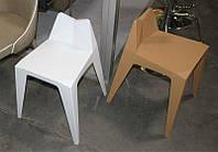 Стул пластиковый М-07 белый оригинальной формы
