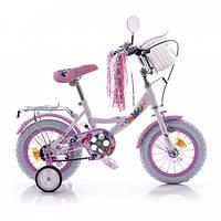 """Велосипед детский """"My Little Pony"""" (Мой Маленький Пони) 12"""", белые колеса."""
