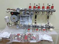 Колектор Kermi 3x2 виходи для водяної теплої підлоги
