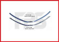 Накладка решетки (капота) хром нижняя FPS Dacia / Renault Logan седан фаза 1, фото 1