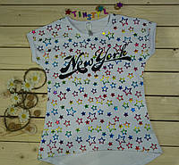 Модная футболка на девочку Звездочка  рост 140-176