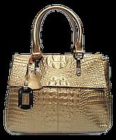 Женская сумочка рептилия из кожи цвета золота BBV-097333