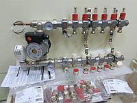 Коллектор Kermi 6x2 выхода для водяного теплого пола