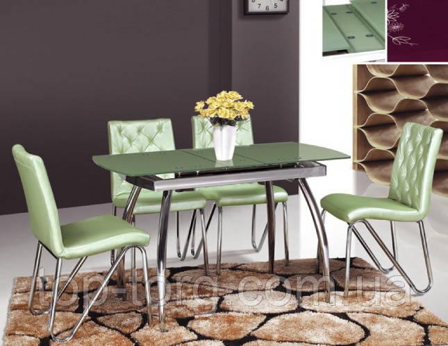 Стол ТВ086 зеленый, раскладной