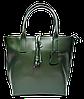 Превосходная женская сумочка из натуральной кожи зеленого цвета SSW-636588