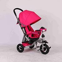 Велосипед трехколесный Crosser T-350 с фарой надувные колеса,розовый