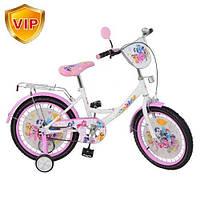"""Детский велосипед """"My Little Pony"""" (Мой Маленький Пони) 14"""", черные колеса."""