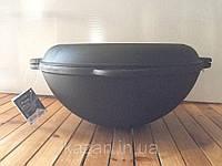 Казан чугунный с крышкой сковородкой 12л, фото 1