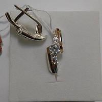Серьги из серебра и золота Циния