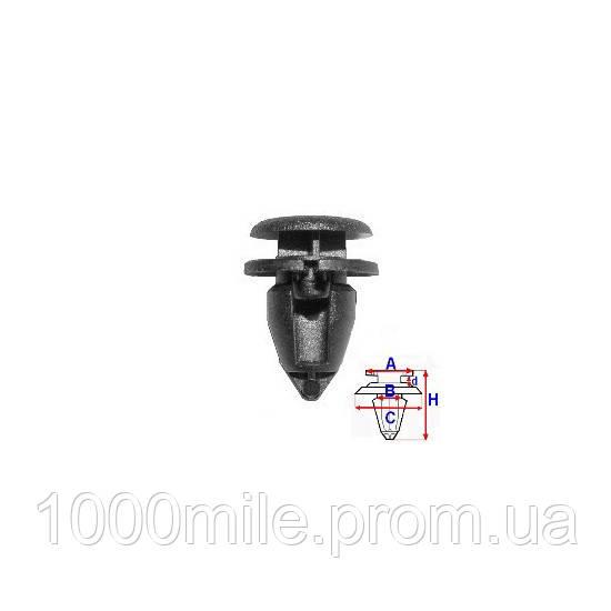 Клипса крепления обшивки карты двери на Renault Kangoo 1997->2008 — Romix (Польша) - ROMC60141
