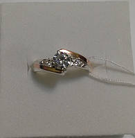 Кольцо из серебра и золота Циния