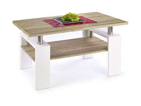 Журнальный столик Diana H MDF110*60 (2 цвета: белый/сонома, сонома/белый (Halmar), фото 2