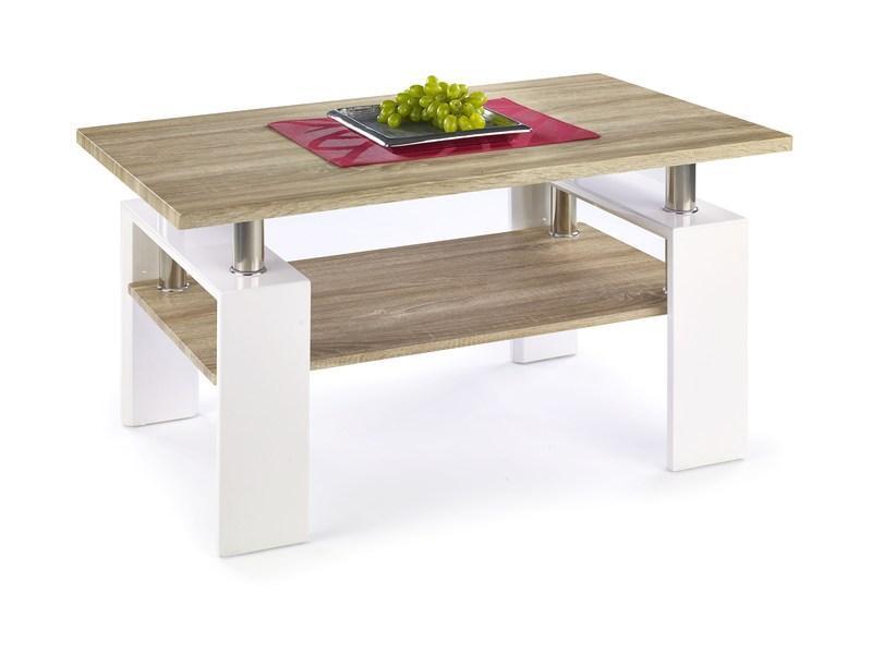 Журнальный столик Diana H MDF110*60 (2 цвета: белый/сонома, сонома/белый (Halmar)