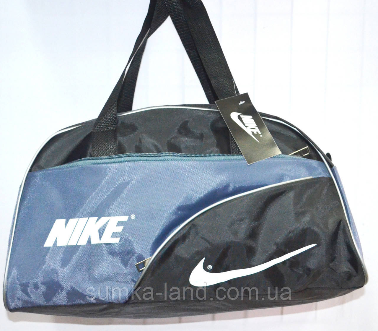 Универсальные спортивные сумки (ЧЕРНЫЙ - с - СЕРЫМ)