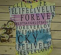 Модная футболка на девочку Буквы рост 140-176