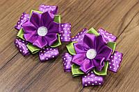 Резинки для волос горошек фиолетовый (2 шт.)