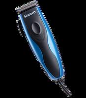 Машинка для стрижки волос Magio МG-180N  9Вт 4 насадки сталь