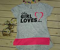 Модная футболка на девочку Girl  рост 140-176