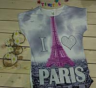 Стильная футболка  на девочку рост 140-176
