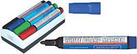 Маркер для доски Комплект из 4 маркеров и губки для магнитных досок gr.M460/04/Wiper Granit (gr.M460/04 x 27159)