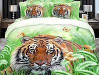 Постельное белье Шерхан, сатин панно 3Д (фотопринт) 100%хлопок - семейный комплект