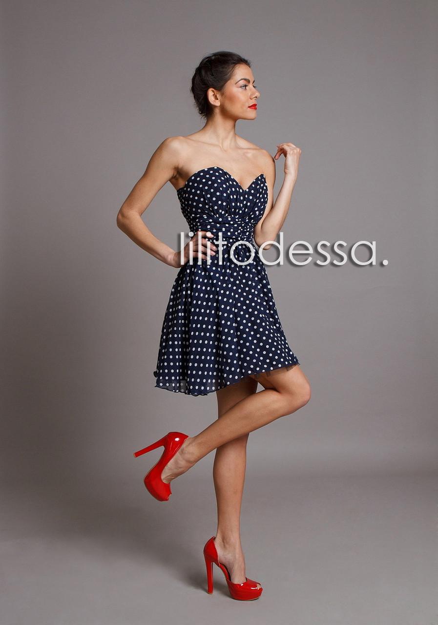 Купить Платье Синий Горох