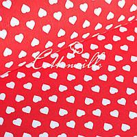 Польская бязь Сердечки красные 17 мм