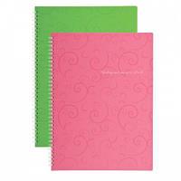 Книга  для записей на пружине Книга для записей на пружине Barocco А6, 80 арк, кл., пласт.обкл. BM.2589 Buromax (BM.2589-610 (розовый) x 26580)