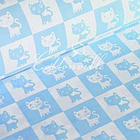 Бязь Котики голубые (1 мп)
