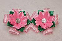 Резинки для волос горошек розовый (2 шт.)