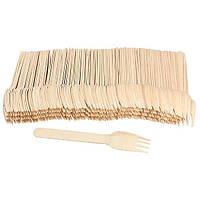 Вилка деревянная Вилка деревяная PapStar 18199 16,5см 100шт 0112310 (0112310 x 37482)