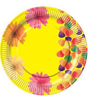 Тарелка картонная Тарелка бумажная с рисунком d=23см 10 шт 0111560 (0111560 x 37466)
