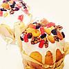 Пасхальный кулич с цукатами и белковой глазурью Пасха
