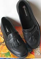 Стильные Лоферы обувь Loafer женские классические туфли лоуферы кожа черная