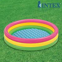 Детский надувной разноцветный бассейн 57412 , детские надувные  бассейны, игры для детей, Интекс