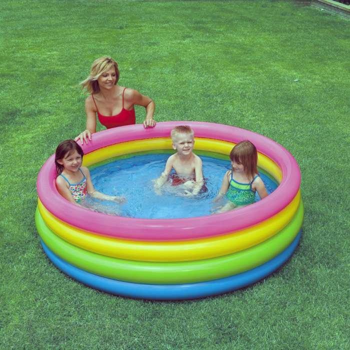 Детский надувной разноцветный бассейн 57422 , детские надувные  бассейны, игры для детей, Интекс
