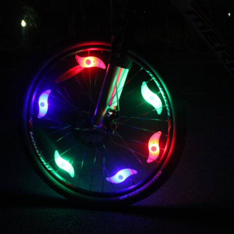 Светодиодные фонарики на спицы, подсветка велосипедныйх колес