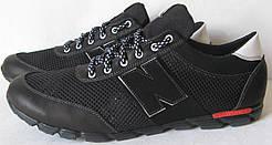 Мужские весенние кроссовки в стиле New Balance сетка туфли большие размеры кожа комфорт качество