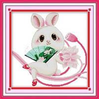 Набор для вышивания крестиком с печатью на ткани Крольчонок 11ст
