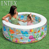 """Детский надувной бассейн манеж и батут """"Аквариум"""" Intex 58480, надувной бассейн для детей 152*56см"""