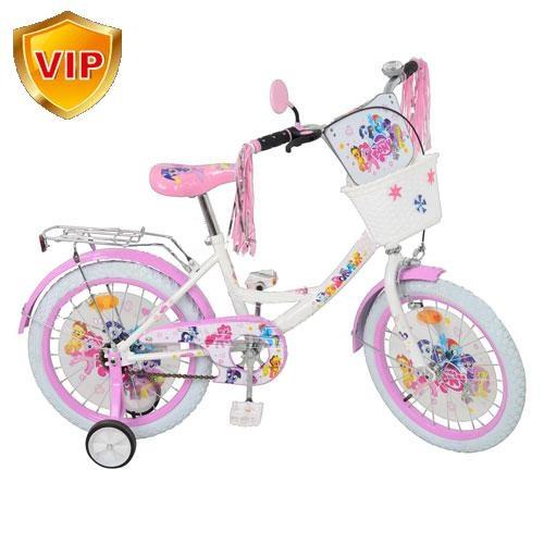 """Велосипед детский """"My Little Pony"""" (Мой Маленький Пони) 18"""", белые колеса."""