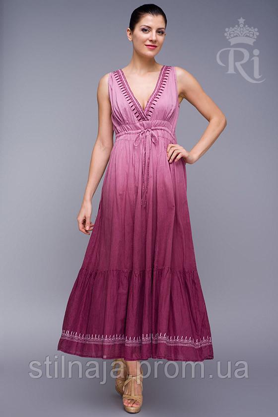 Удобный летний сарафан ,натуральная ткань без рукава