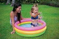 Бассейн надувной детский Intex 58924, надувное дно, разноцветный, бассейны для детей, Интекс