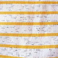 Трикотажное полотно трехнитка с начесом хб/пэ, полоска желтая