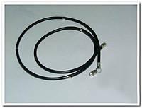 Каучуковый шнурок средний с серебряными вставками