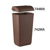 Корзина пластмассовая 23л COLORED 742MA/744MA (Крышка и корзина продаются отдельно) (Корзина для сміття пластик коричнева 23л настінна Colored[742MA]