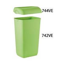 Корзина пластмассовая 23л COLORED 742VE/744VE (Крышка и корзина продаются отдельно) (Корзина для сміття пластик зелена 23л настінна Colored[742VE] x