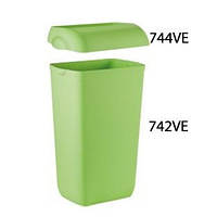 Корзина пластмассовая 23л COLORED 742VE/744VE (Крышка и корзина продаются отдельно) (Кришка для корзини 742 зелена Colored[744VE] x 1649)
